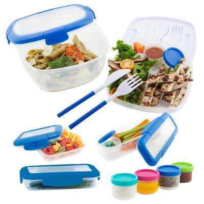 5-Piece Assorted Pack Food Storage in Blue