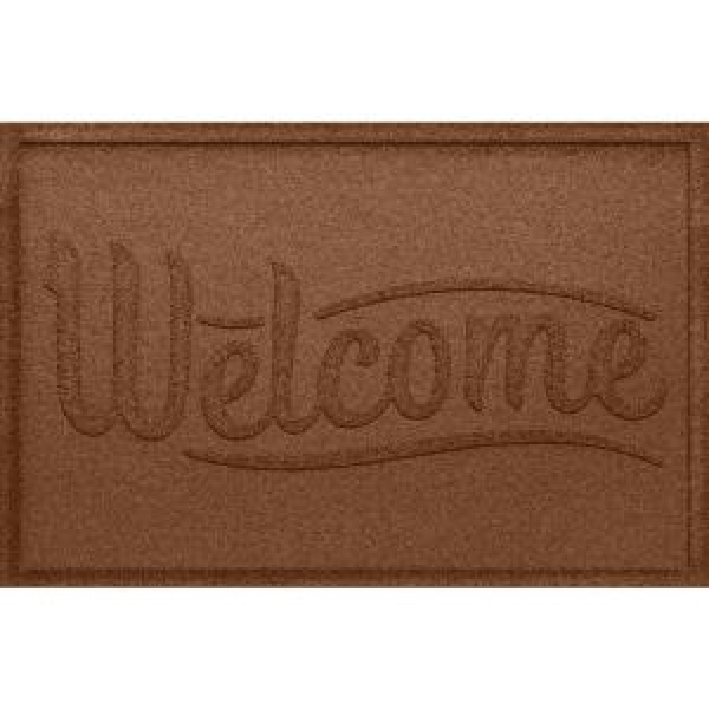 Aqua Shield Simple Welcome Dark Brown 24 In. X 36 In. Polypropylene Door Mat 20790520023    The Home Depot