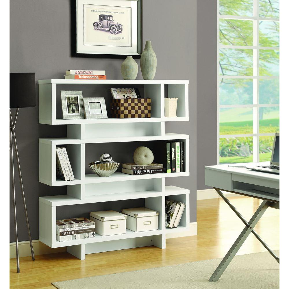 Monarch Specialties White Open Bookcase