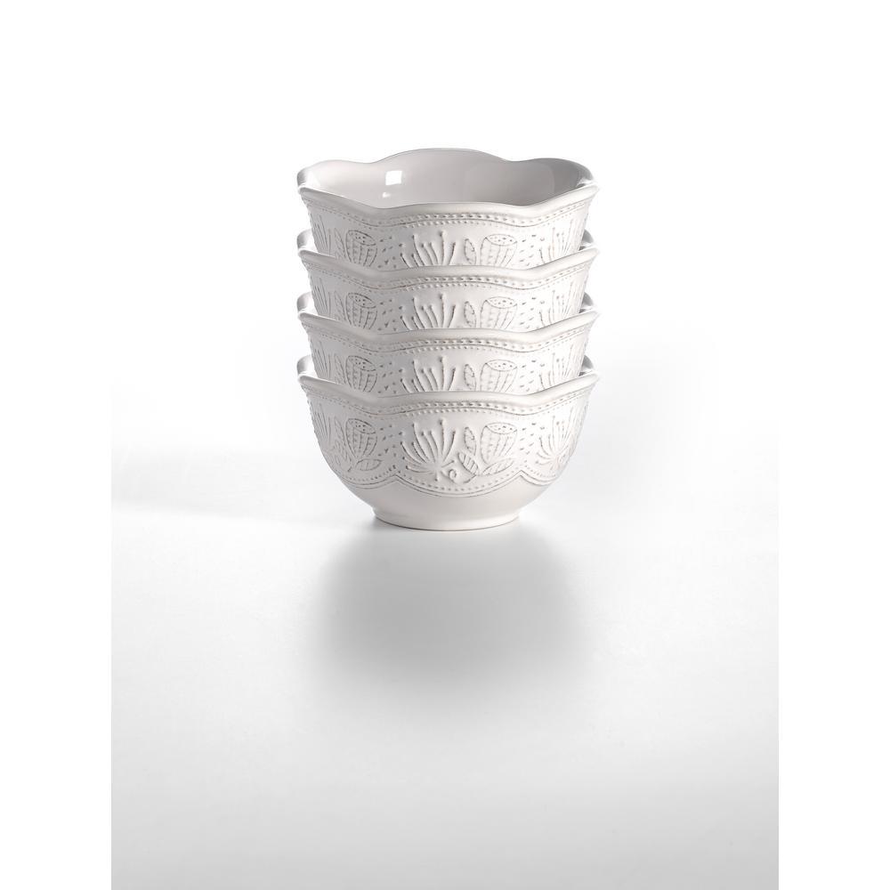 Antique White Bowl (Set of 4)