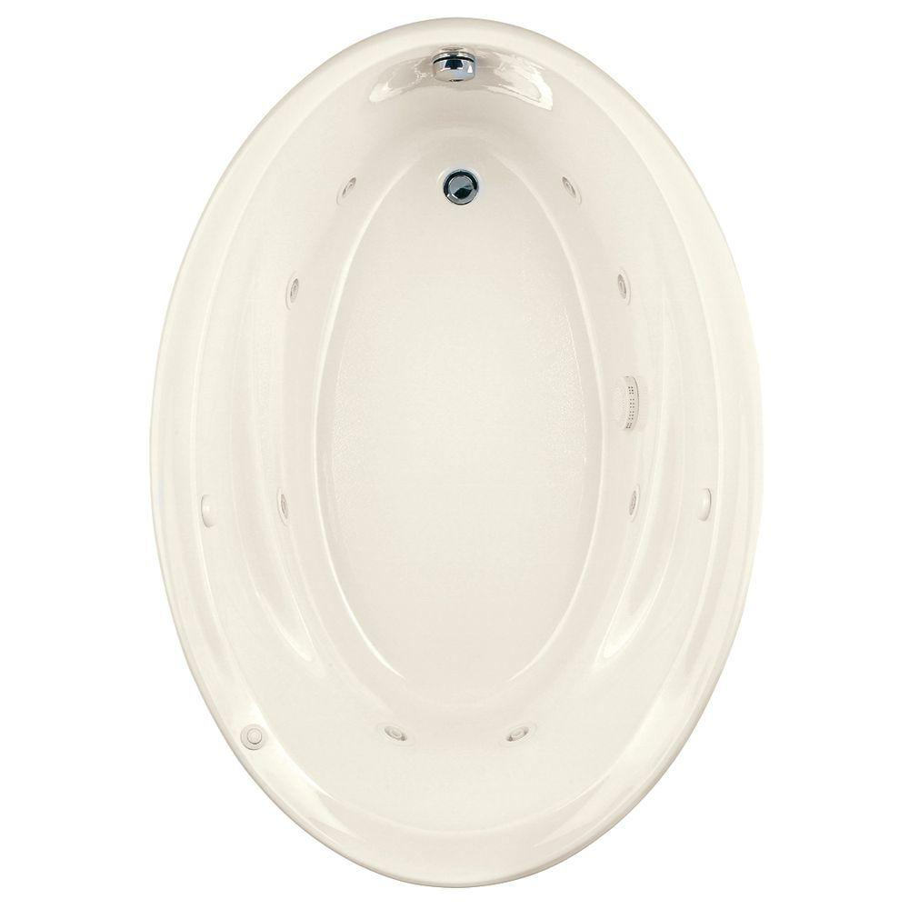 American Standard Savona Oval EcoSilent 5 ft. Whirlpool Tub in Linen