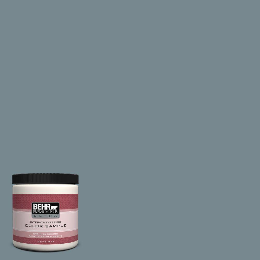 8 oz. #N470-5 Norwegian Blue Interior/Exterior Paint Sample