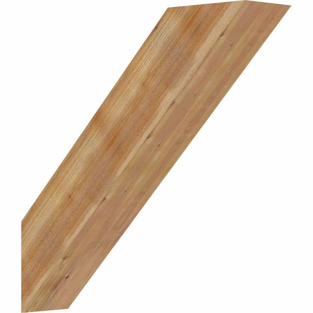 4 in. x 18 in. x 18 in. Western Red Cedar Traditional Rough Sawn Brace