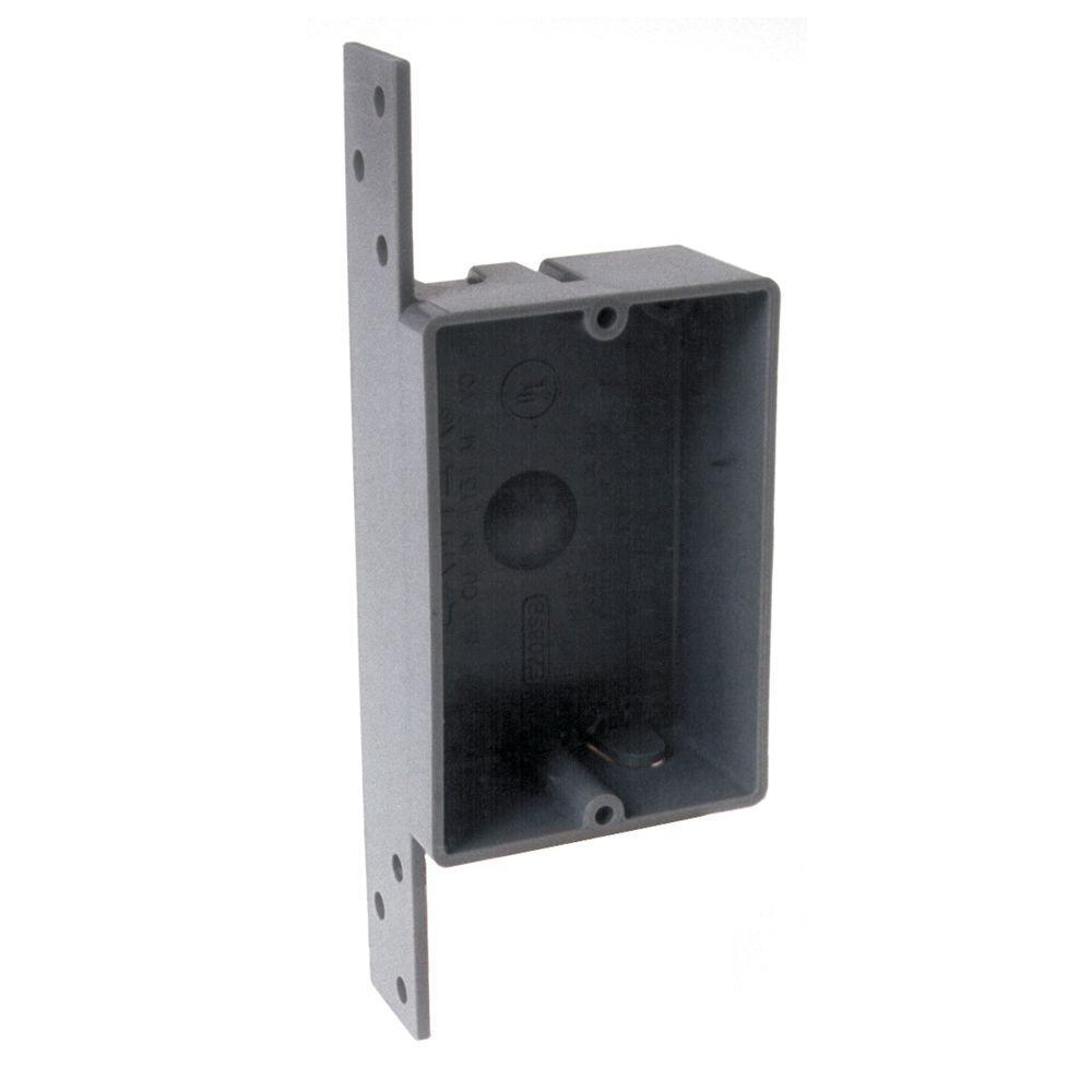 RACO Single Gang Rectangular Non-Metallic Cable Box, 1-1/4 in. Deep ...