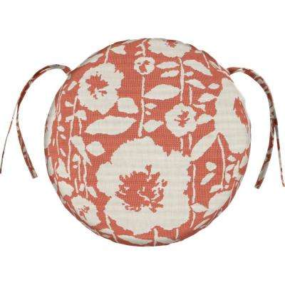 Sunbrella Andy - Guava Round Outdoor Seat Cushion