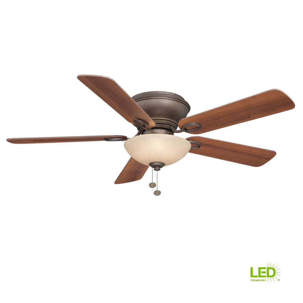 Adonia 52 in. LED Indoor Oil Rubbed Bronze Ceiling Fan with
