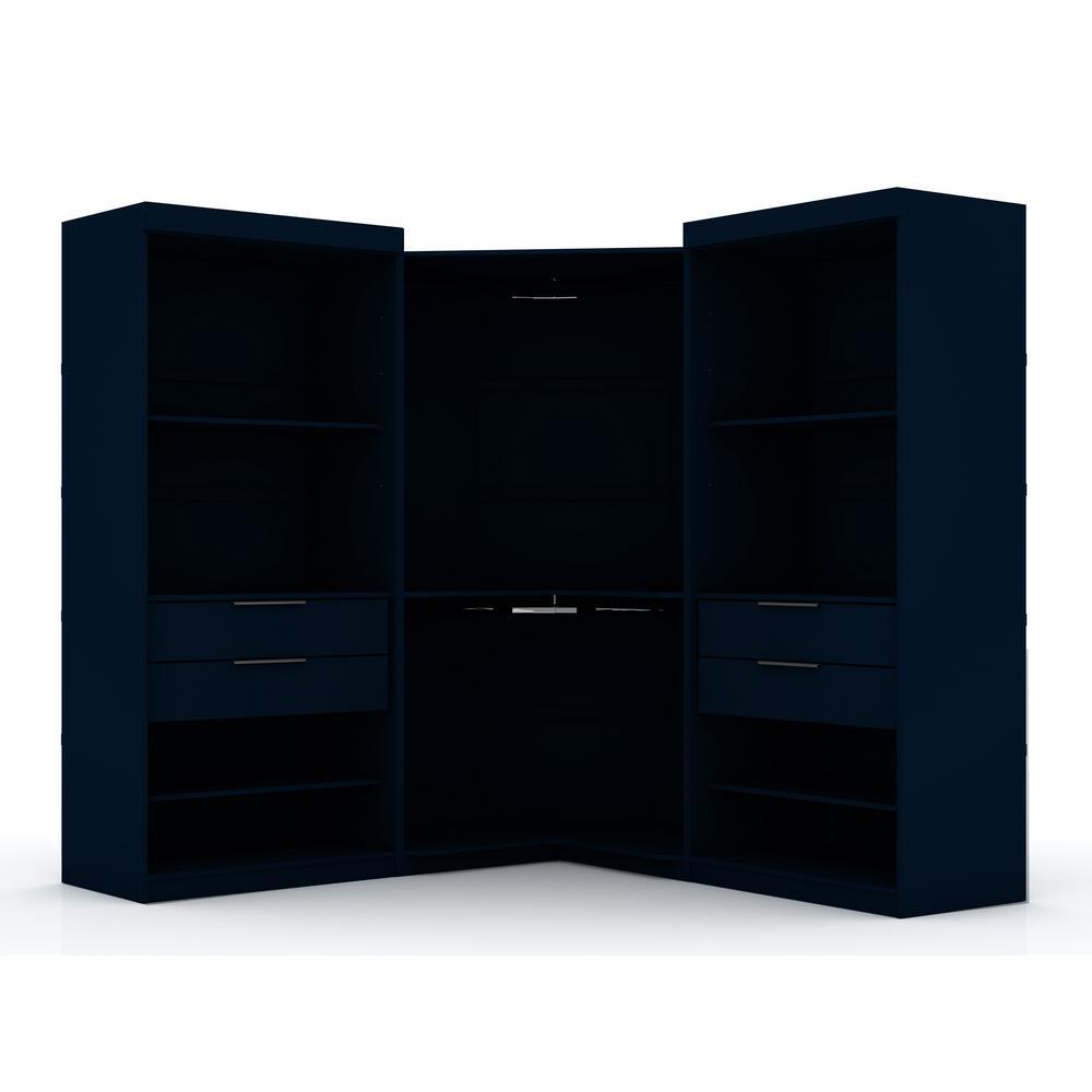 Ramsey Tatiana Midnight Blue Open 3-Sectional Corner Closet (Set of 3)