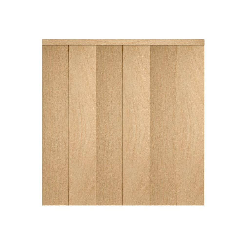 Home Fashion Technologies 28 In X 80 In 6 Panel Stain Ready Solid Wood Interior Closet Bi Fold