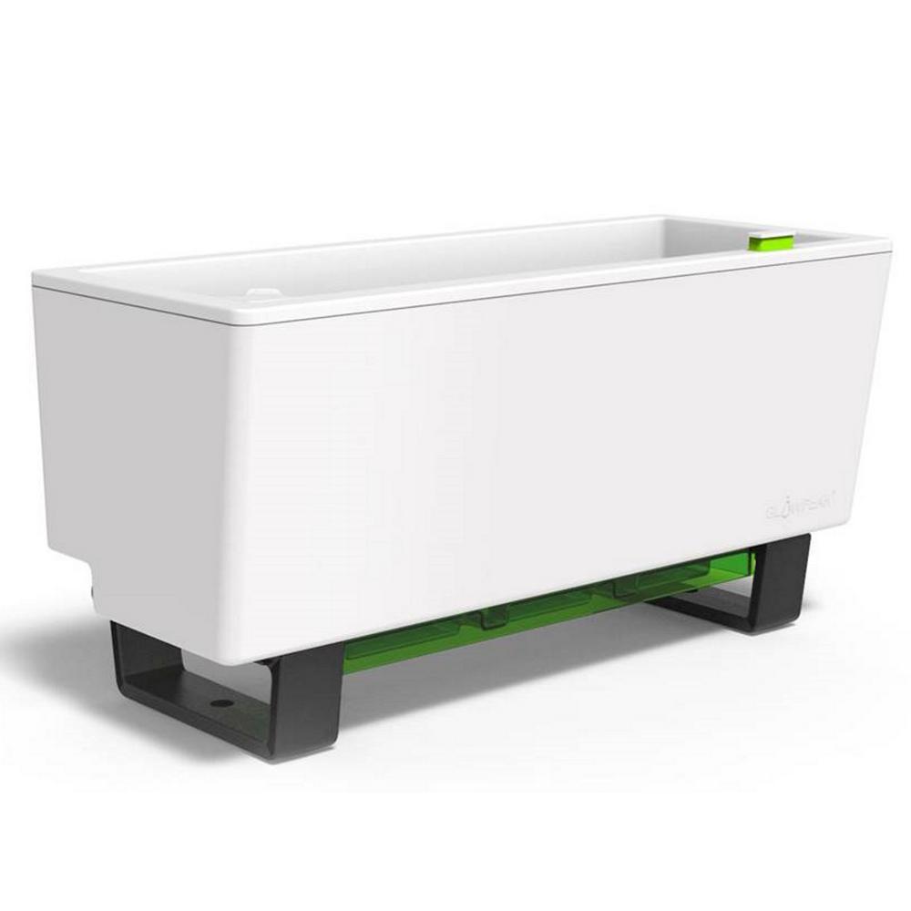 Glowpear 23 6 In W X 10 1 In H Mini Bench Self Watering Planter