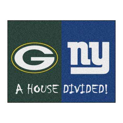 NFL Packers / Giants Green House Divided 3 ft. x 4 ft. Area Rug