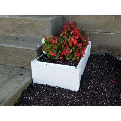 12 in. x 26 in. White Vinyl Raised Garden Bed