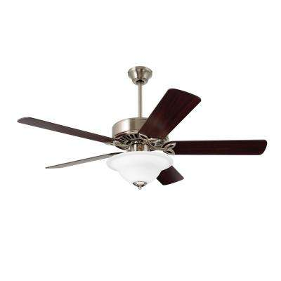Pro Series 50 in. Brushed Steel Ceiling Fan