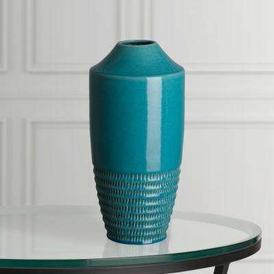 18.5 in. H Aqua Decorative Nantucket Vase