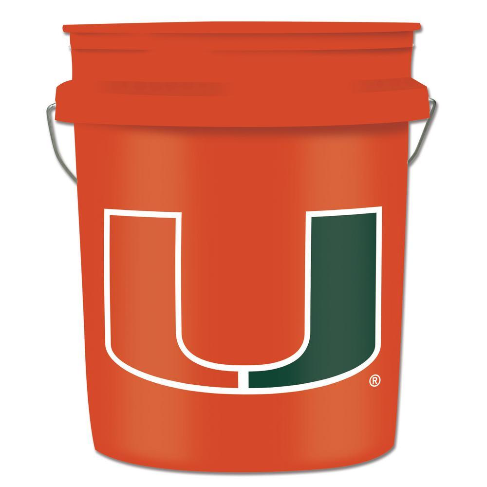 Leaktite 5 gal  University of Miami College Bucket