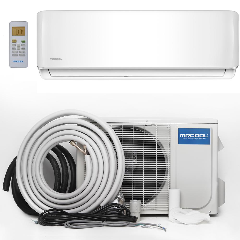 Mrcool advantage 12 000 btu 1 ton ductless mini split air for Ductless ac