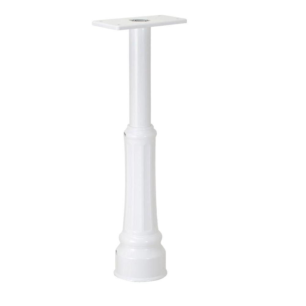 Architectural Mailboxes Basic In-Ground Post with Decorative Cover in White