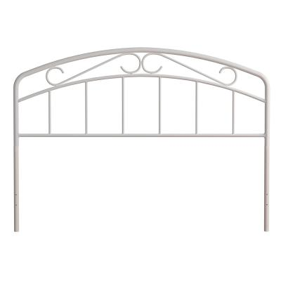 Jolie White Full/Queen Arched Scroll Headboard