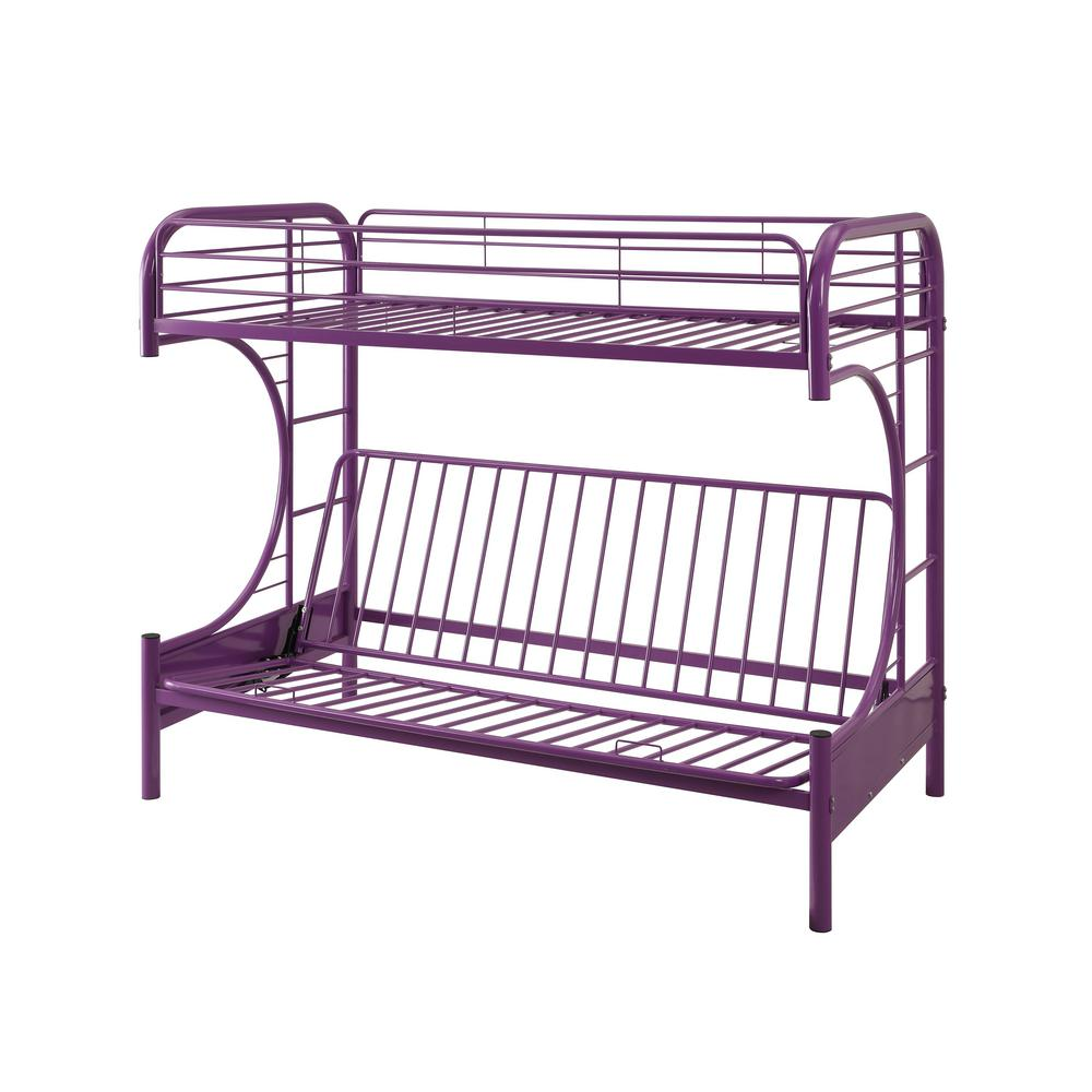 Eclipse Twin Over Purple Full Metal Kids Bunk Bed