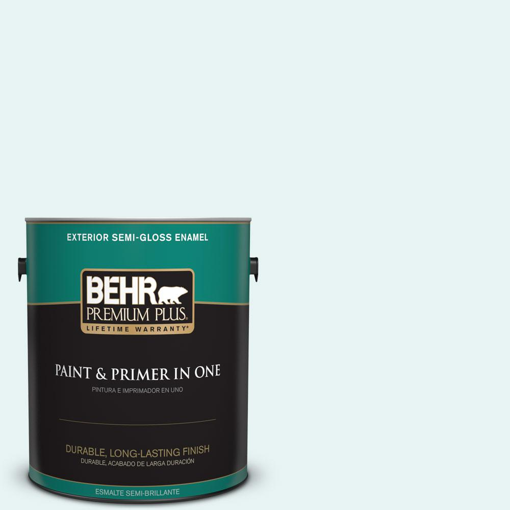 1-gal. #BL-W4 Ethereal White Semi-Gloss Enamel Exterior Paint