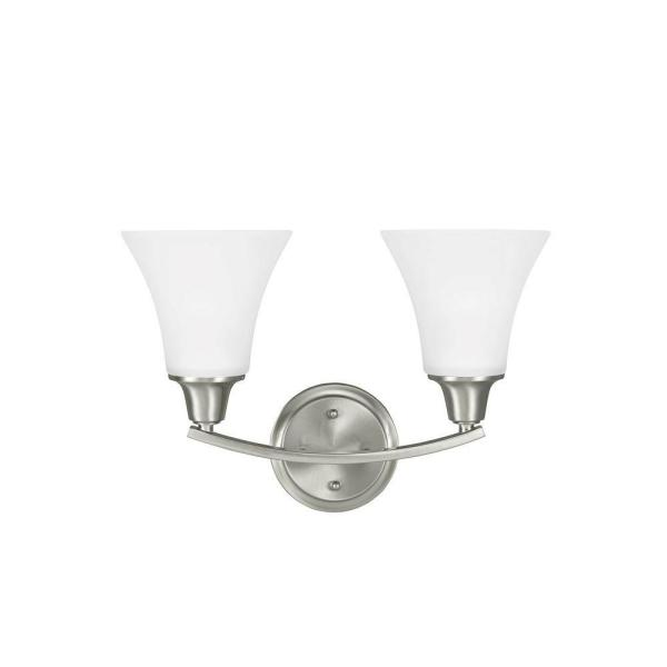 Metcalf 2-Light Brushed Nickel Wall Sconce
