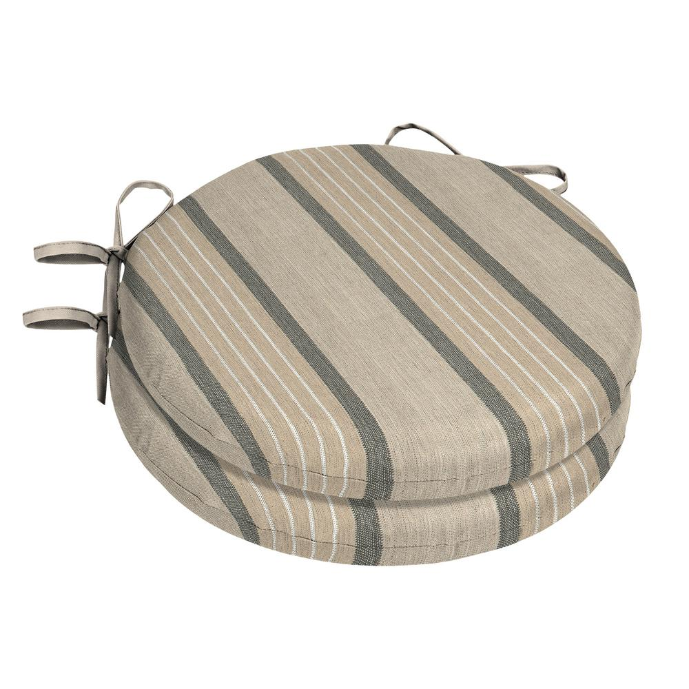 15 x 15 Outdoor Chair Cushion in Sunbrella Cove Pebble (2-Pack)