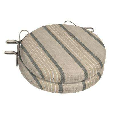 15 X 15 Sunbrella Cove Pebble Round Outdoor Chair Cushion 2 Pack
