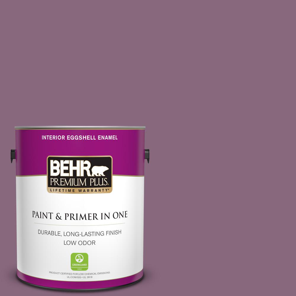 Reviews For Behr Premium Plus 1 Gal S110 6 Plum Royale Eggshell Enamel Low Odor Interior Paint And Primer In One 240001 The Home Depot