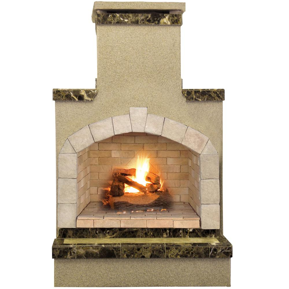 Enjoy cool evenings in front of an open flame. The Cal Flame 48 in. Propane Gas Fireplace in Porcelain Tile explains to know the specifications of the product with all necessary information. It is an ideal choice for outdoor usage.