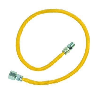 ProCoat 1/2 in. FIP x 3/8 in. MIP x 36 in. Stainless Steel Gas Connector 3/8 in. O.D. (33,400 BTU)