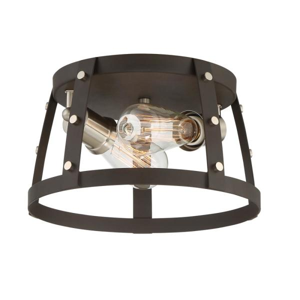 Presidio 2-Light Rustique Interior Flush Mount