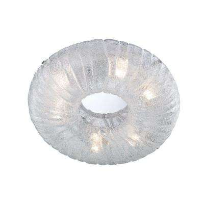 Spectra Collection 6-Light Chrome Clear Round Flushmount