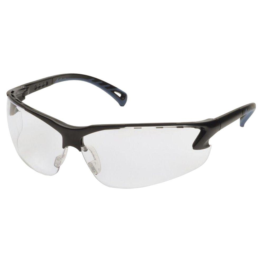 null Venture Black Frame Clear Lens 3 Safety Glasses-DISCONTINUED