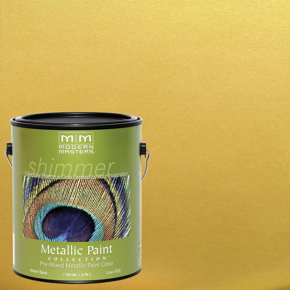 Modern Masters 1 gal. Rich Gold Metallic Interior/Exterior Paint ...