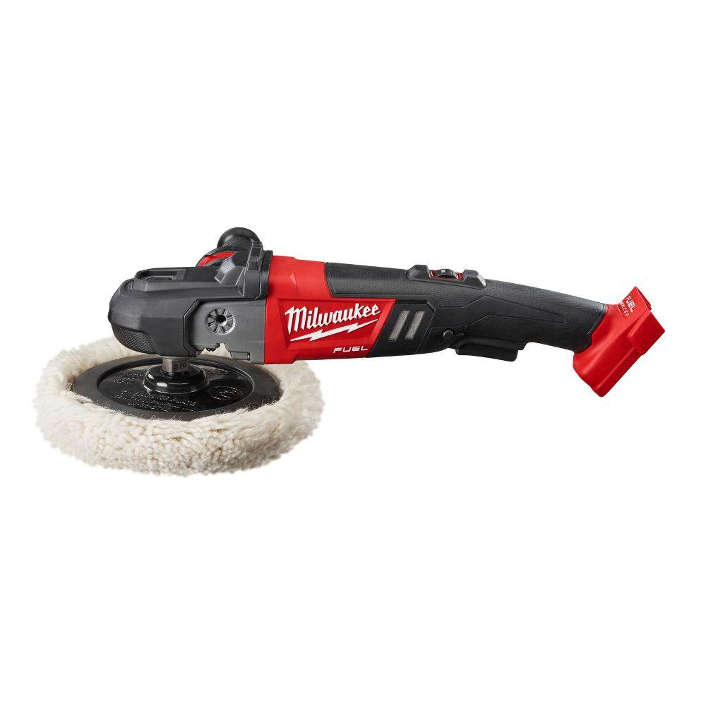 Milwaukee M18 FUEL 18-Volt Lithium-Ion Brushless Cordless 7 in. Variable Speed Polisher (Tool-Only)