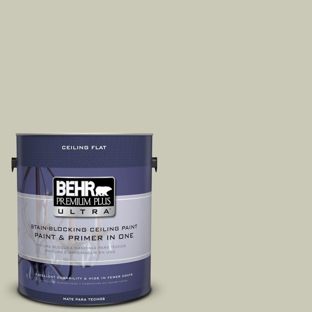 BEHR Premium Plus Ultra 1-Gal. No.UL200-8 Ceiling Tinted to Ocean Foam Interior Paint