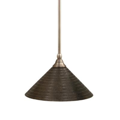 Concord 1-Light Brushed Nickel Incandescent Ceiling Pendant