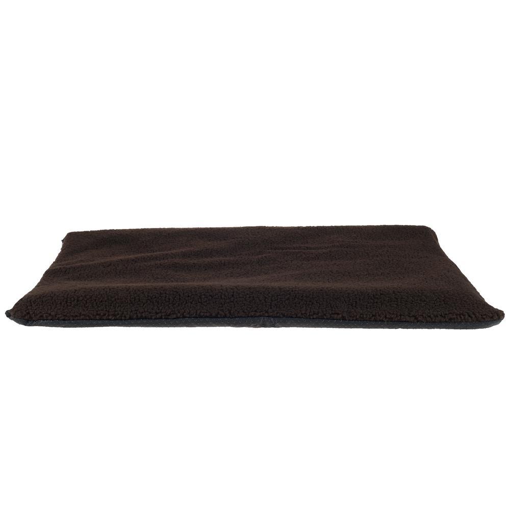 Large Chocolate Self-Warming Thermal Pet Crate Pad