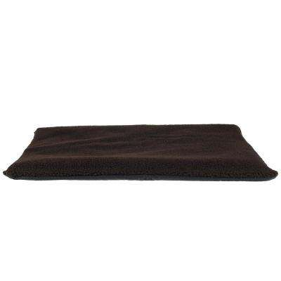Large Chocolate Self-Warming Thermal Pet Crate Pad