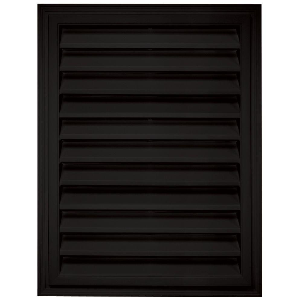 18 in. x 24 in. Rectangle Gable Vent in Black