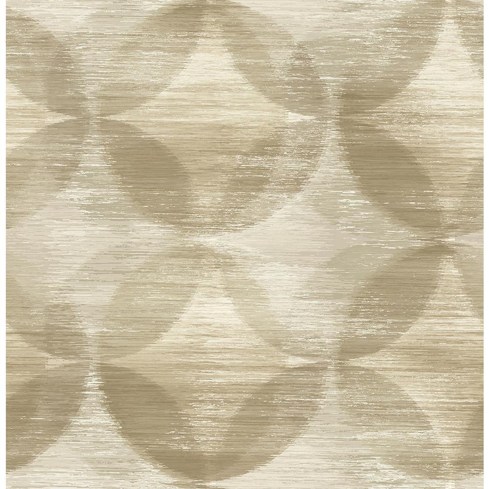 56.4 sq. ft. Alchemy Honey Geometric Wallpaper