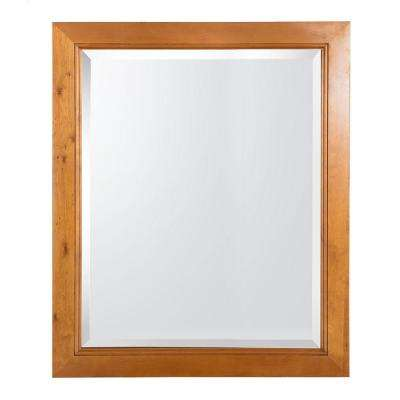 Exhibit 28 in. x 34 in. Wall Mirror in Rich Cinnamon