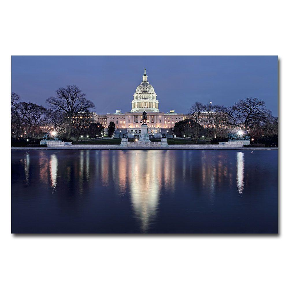 47 in. x 35 in. Capitol Reflections Canvas Art