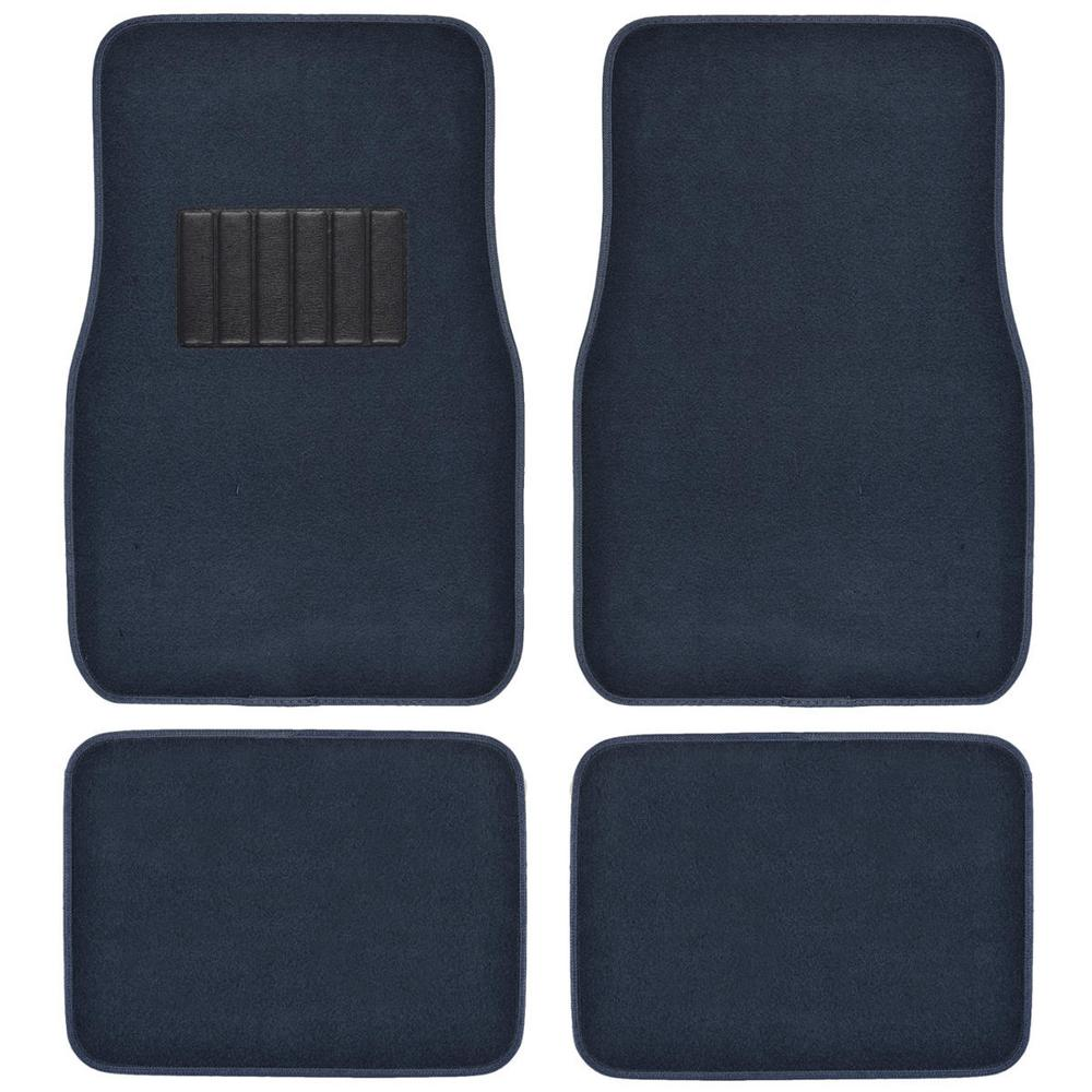 bdk classic mt 100 blue carpet with rubberized backing 4 piece car floor mats mt 100 bl the. Black Bedroom Furniture Sets. Home Design Ideas
