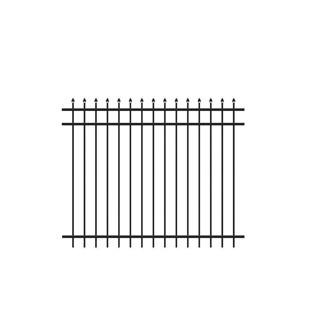 Tuffbilt 5 Ft H X 6 Ft W Cascade Black Aluminum Fence