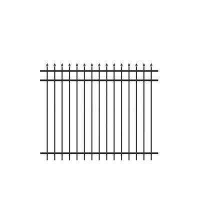5 ft. H x 6 ft. W Cascade Black Aluminum Fence Kit