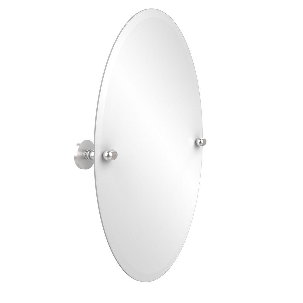 Tango Collection 21 in. x 29 in. Frameless Oval Single Tilt