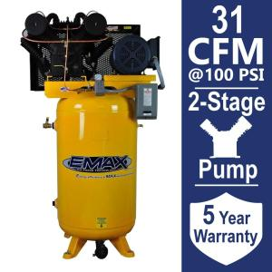 EMAX Industrial PLUS Series 80 Gal. 7.5 HP 3-Phase 2-Stage Stationary Electric Air Compressor by EMAX