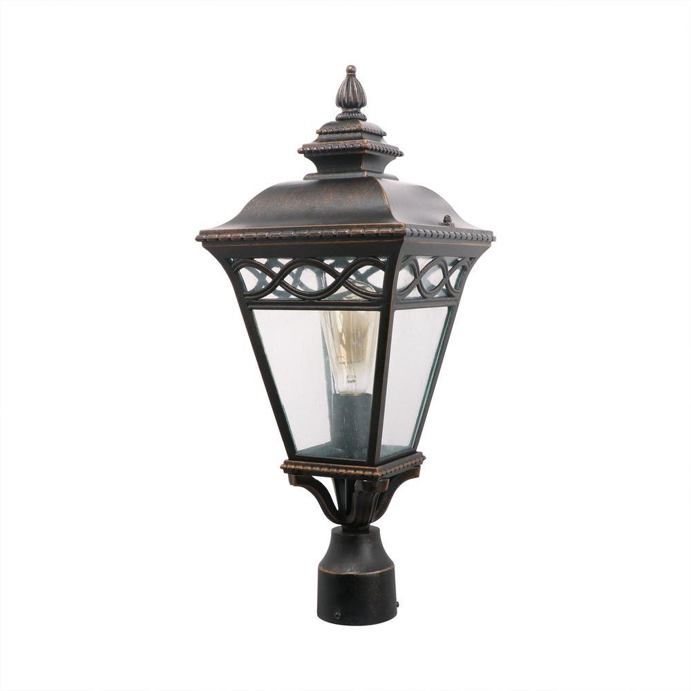 Cheri 1-Light Oil Rubbed Bronze Outdoor Post Lantern