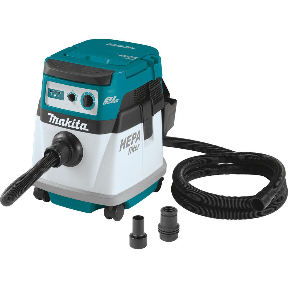 Makita -  18-Volt X2 LXT Lithium-Ion (36-Volt) Brushless Cordless 4 Gal. HEPA Filter Dry Dust Extractor (Tool-Only)