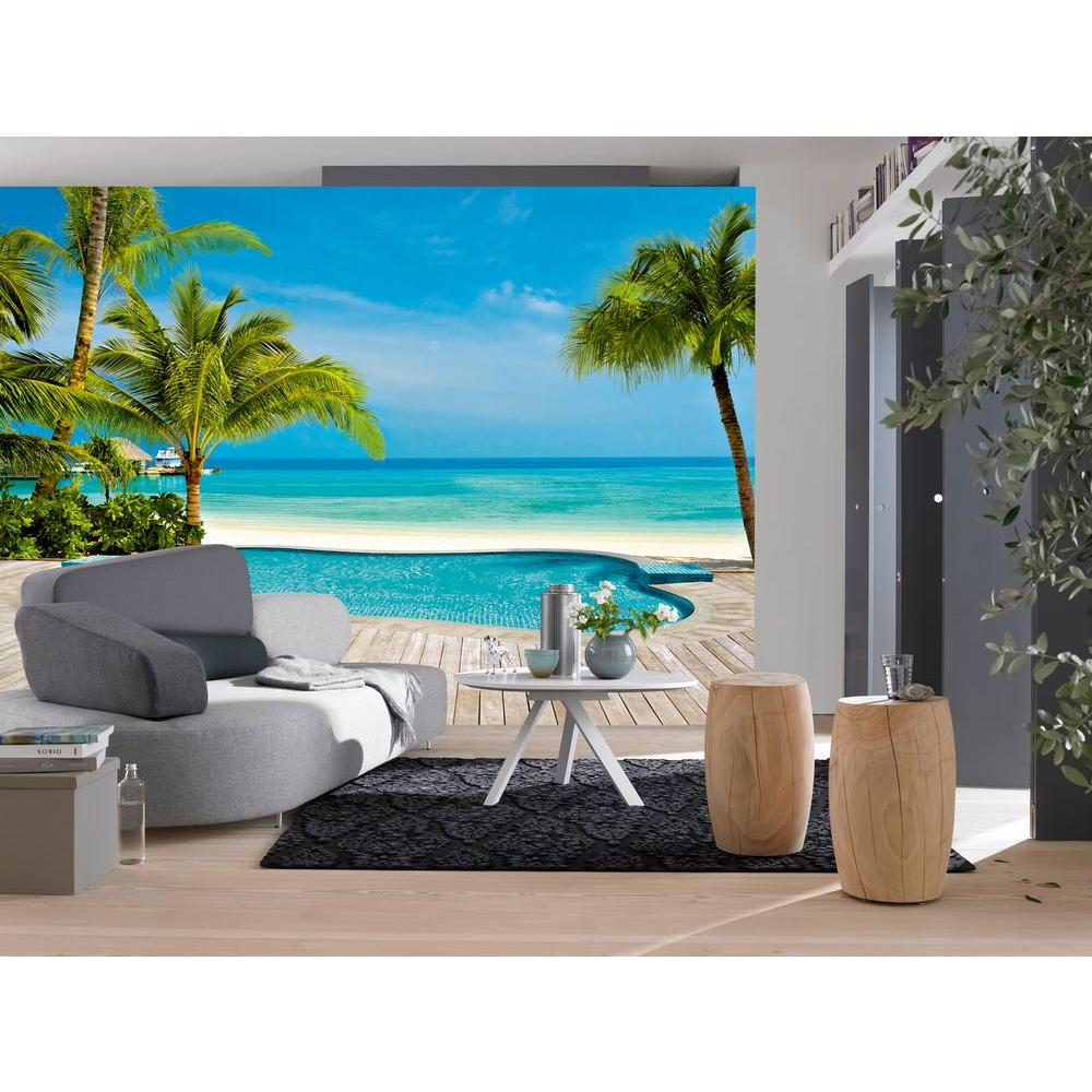 Ideal Decor 100 In X 144 In Pool Wall Mural Dm127 The Home Depot